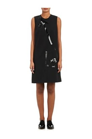 Christopher Kane Embellished Crepe Shift Dress