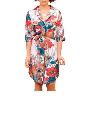 CO OP Barneys New York Belted Shirt Dress Multi