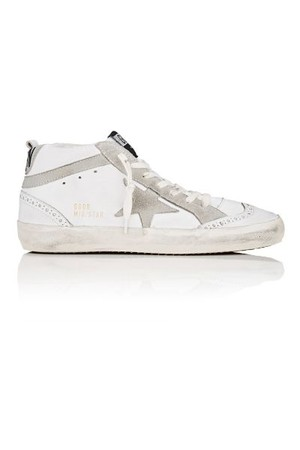 Golden Goose Mid Star Leather Suede Sneakers