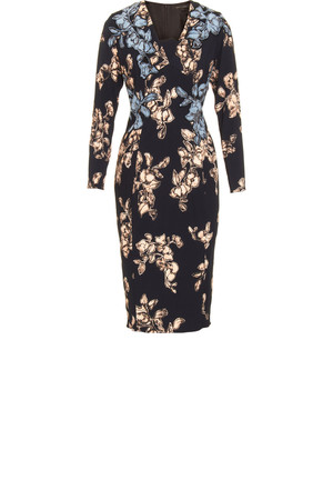 Marc Jacobs Applique Dress Navy Multi