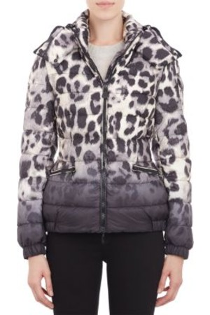 Moncler Leopard Print Quilted Saby Puffer Jacket