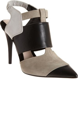 Narciso Rodriguez Colorblock Pointed Toe Shoe Boot Off White Black