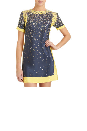Opening Ceremony Scuba Combo Dress Navy Yellow