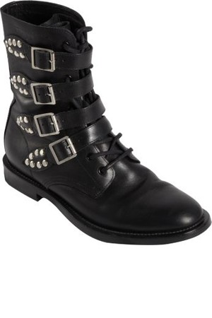 Saint Laurent Buckle Strap Rangers Boot