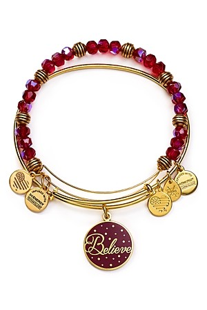 Alex and Ani Believe Color Infusion Expandable Wire Bangles Set of 2