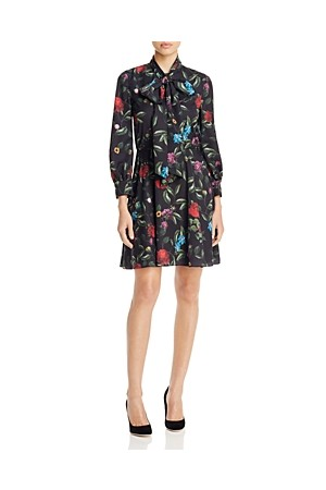 Alice Olivia Floral Print Dress 100 Bloomingdales Exclusive