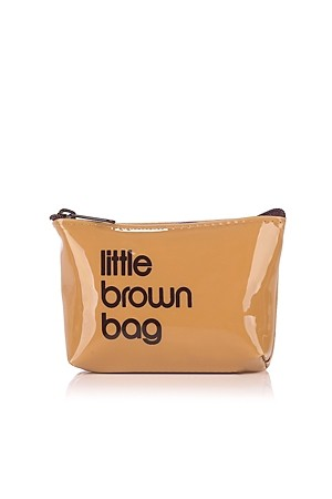 Bloomingdales Little Brown Key Pouch