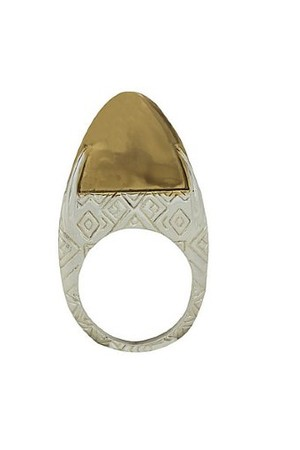 House of Harlow 1960 Jewelry Dome Slice Ring