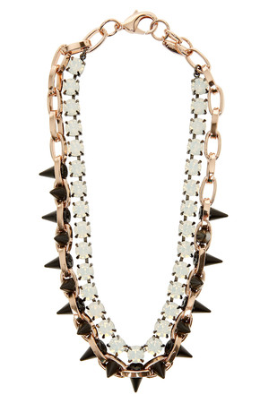 Joomi Lim Exclusive Opal And Spike Embellished Necklace