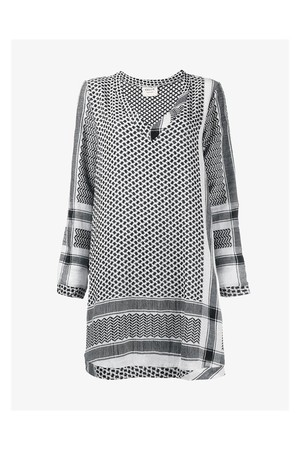 Cecilie Copenhagen Keffiyeh Print Cotton Dress