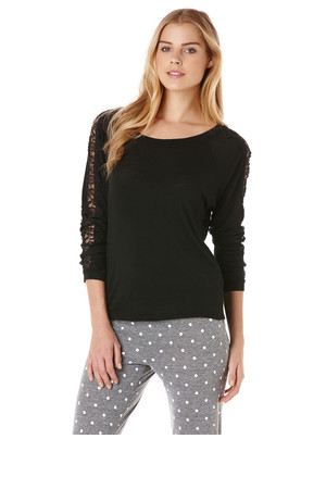 CC California Dolman Sweatshirt With Lace Detail