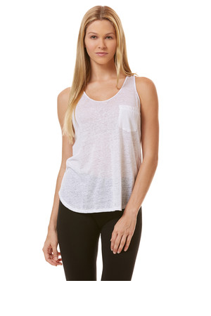 CC California Linen Double V Neck Tank