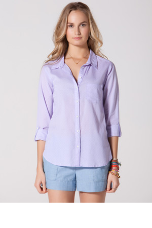CC California Polka Dot Roll Sleeve Shirt
