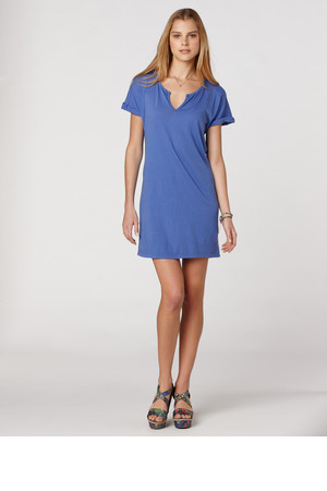 CC California Split Neck Shift Dress