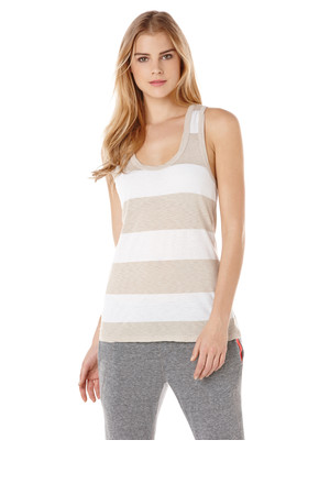 CC California Stripe Scoop Neck Tank