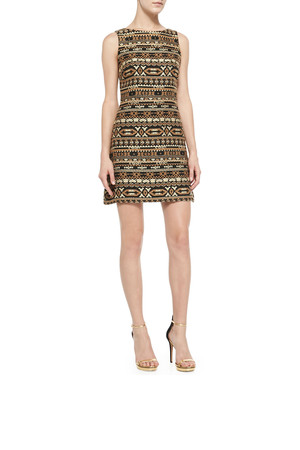 Alice Olivia Wilcox Sleeveless A Line Dress