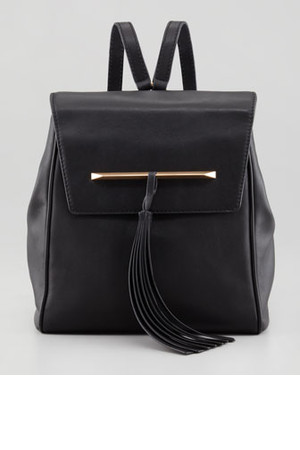 B Brian Atwood Juliette Small Leather Backpack with Tassel