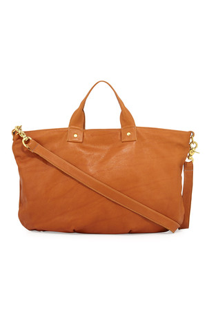 Clare Vivier Pebbled Leather Messenger Bag British Tan from CUSP