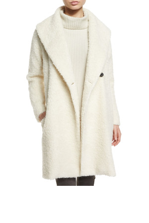 Vince Fuzzy Knit Long Coat