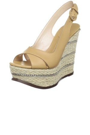 Casadei Womens 6421 Leather Espadrille