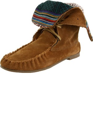 Steve Madden Womens Tblanket Moccasin Ankle Boot