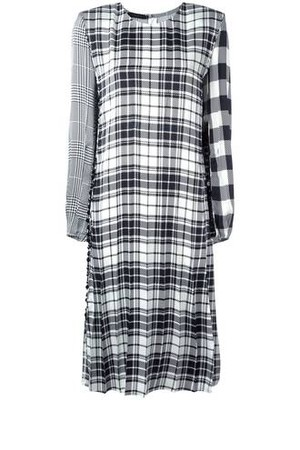 Calvin Klein Collection Contrast Plaid Dress