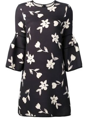 Carolina Herrera Bell Sleeve Mini Dress