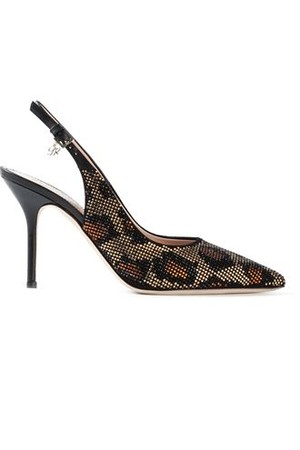 Dsquared2 Leopard Print Sling Back Pumps