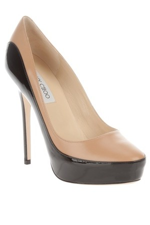 Jimmy Choo Two Tone Leather Pump