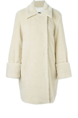 Mm6 Maison Margiela Oversized Faux Shearling Coat