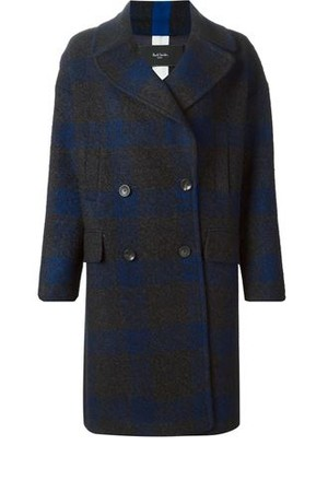 Paul Smith Large Gingham Patterned Coat