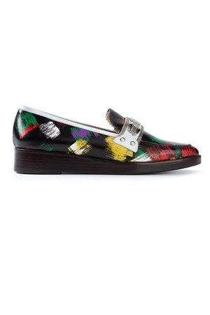 Toga Pulla Brush Print Loafers