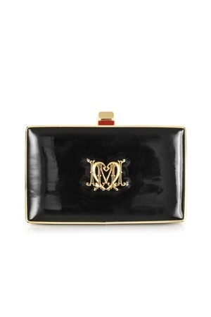 Moschino Love Moschino Black Patent Eco Leather Clutch