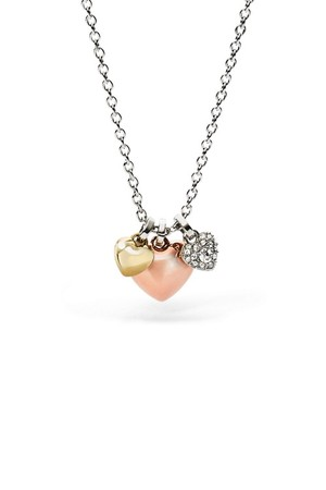 Fossil Heart Charm Necklace Jf01644998