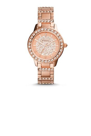 Fossil Jesse Three Hand Stainless Steel Watch Rose Es3657