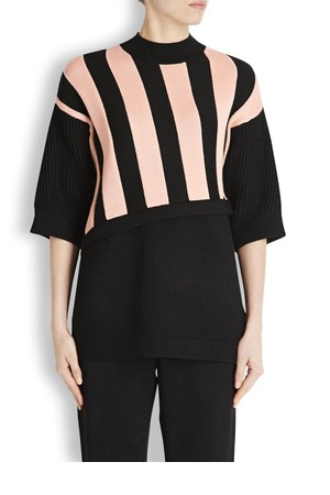 31 Phillip Lim Black striped intarsia jumper