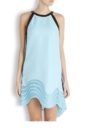 31 Phillip Lim Turquoise wave hem jacquard dress