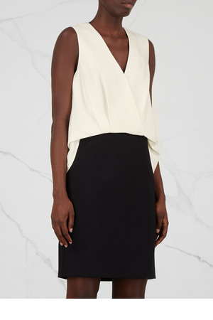 Alexander Wang Monochrome silk and crepe dress