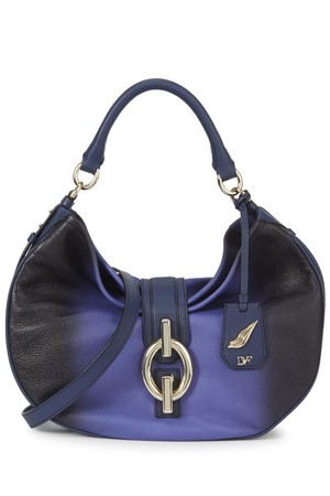 Diane von Furstenberg Blue ombr leather tote