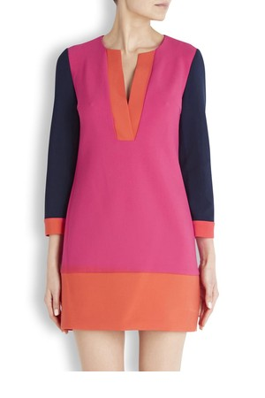 Diane von Furstenberg Millie colour block mini dress