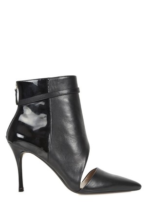DKNY Lael black cut out leather ankle boots