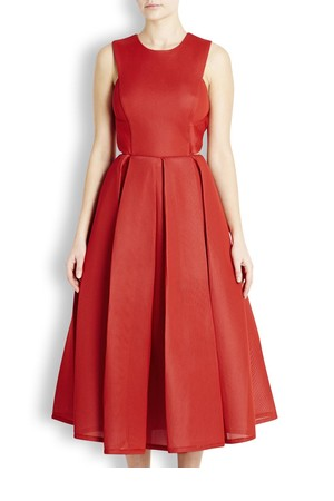 DKNY Red cut out neoprene mesh dress