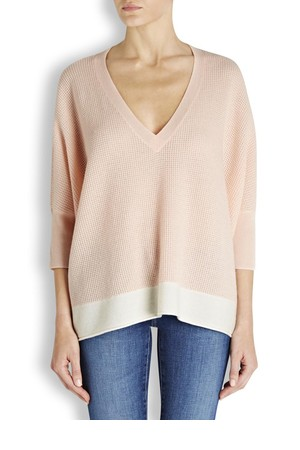 Duffy Peach cashmere knit jumper