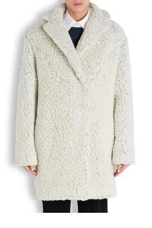 KENZO Off white wool blend coat