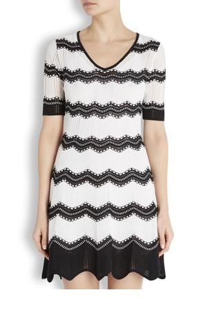 M Missoni Monochrome cotton blend dress
