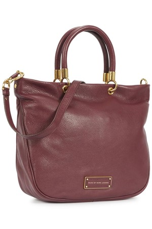 Marc by Marc Jacobs Too Hot To Handle burgundy pebbled leather tote