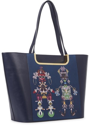 Mary Katrantzou Marinela navy jewel print tote