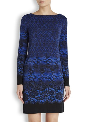MICHAEL Michael Kors Blue printed jersey dress