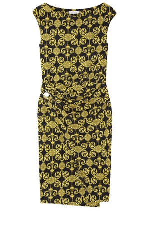 Versace Collection Printed satin jersey dress