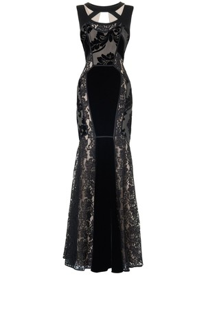 Phase Eight Dulciana full length dress Black